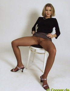 Sexy model in pantyhose