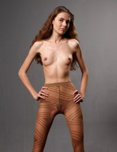 Young model in pantyhose